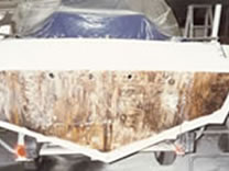 Chris Craft Transom Repair